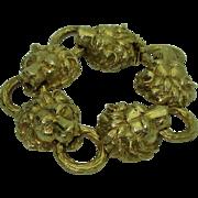 Vintage 18K Lion's Head Bracelet