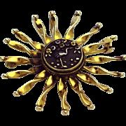 Vintage 14K Shakudo Pin/Pendant