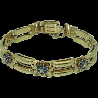 14K Wordley, Allsopp, & Bliss Sapphire Diamond Bracelet