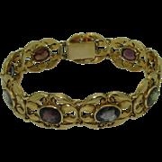 Vintage Art Nouveau Multi Gem 14K Bracelet