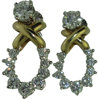 Tiffany & Co. 18K Platinum Diamond Day/Night Earrings