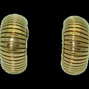Vintage 14K Tiffany & Co. Retro Half-hoop Earrings