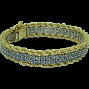 Rare Custom made Montana Yogo 18K 14K Bracelet