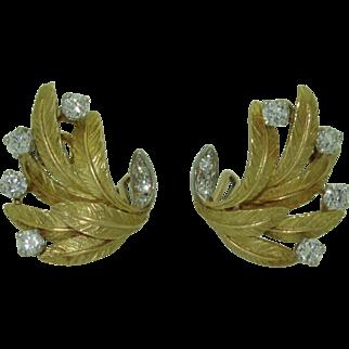 18K Vintage French Diamond Earrings