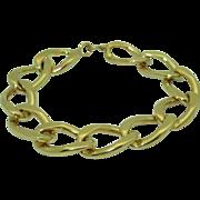 Vintage Heavy 14K Link Bracelet