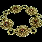 Vintage Retro Felger 14K Citrine Bracelet