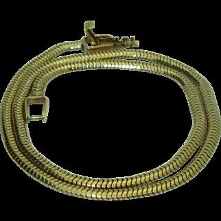 Vintage 14K Tiffany & Co. Gaspipe Necklace