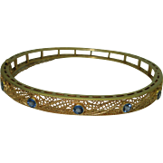 Vintage 14K Allsop & Allsop Sapphire Bracelet