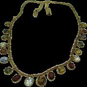 Antique 18K Victorian Multi Gem Fringe Necklace