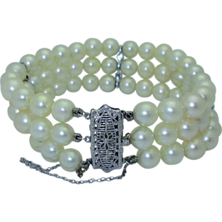 Classic 14K Cultured Pearl Bracelet