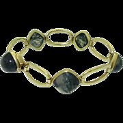 Retro 14K Moss Agate Bracelet