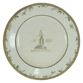 Chinese Export Armorial Dinner Plate for the Vernon Service, Circa 1795