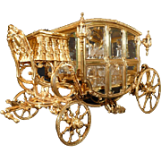 Gilt Bronze Tantalus ( Cave de Liqueur ) in form of a Horse Drawn Carriage, Circa 1890