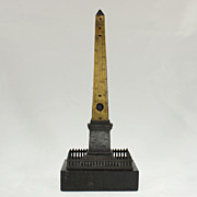 Grand Tour Model of Cleopatra's Column, Thermometer, Circa 1880
