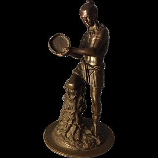 19th Century Bronze Indian Boy
