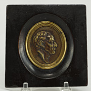Grand Tour French Framed Bronze Medallion, Circa 1880