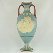 Jasperware Tri Color Vase, Antico Rosso Body, Circa 1790