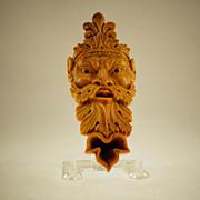 Grand Tour Italian Carved Sienna Marble Oil Lamp, Circa 1850