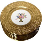 Stunning Legrand Limoges Gold Encrusted Service Plates