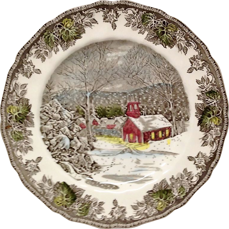 Johnson Bros. Friendly Village, The School House, Dinner Plate, Made in England