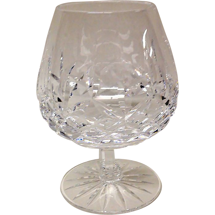 Waterford lismore brandy or cognac glass sold on ruby lane - Waterford cognac glasses ...