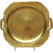 Pickard China Rose & Daisy Gold Encrusted Cake Plate