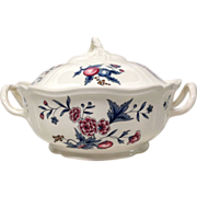 Wedgwood Williamsburg Potpourri Queensware Covered Round Vegetable