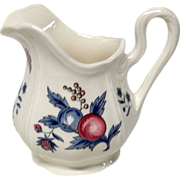 Wedgwood Williamsburg Potpourri Queensware Creamer