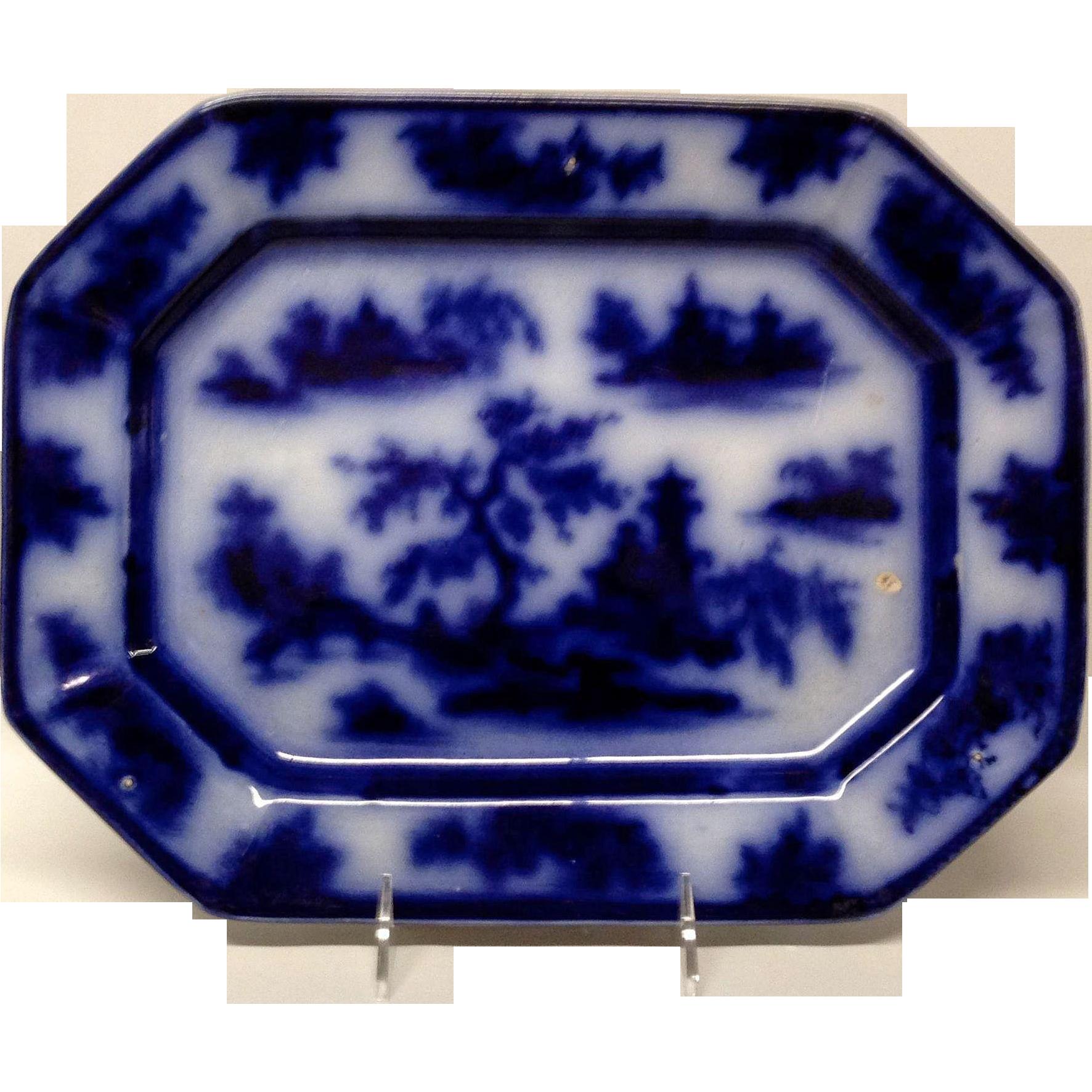 John Wedge Wood Chapoo Flow Blue Platter