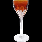 Stunning Baccarat Genova Topaz Rhine Wine Hock