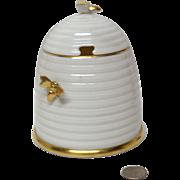 Charming Lenox Bee Hive Honey Pot Gold Bees