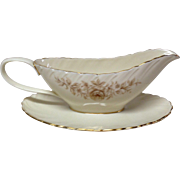 Lenox Coquette G-512 China Gravy Boat and Stand