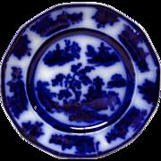 """John Wedge Wood Chapoo Flow Blue 8 1/4"""" Plate"""