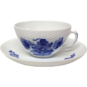 Royal Copenhage Blue Flowers-Braided Pattern Cup & Saucer 8269