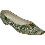 Mottahedeh Ceramic Green Paisley Woman's Shoe