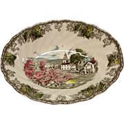 "Johnson Bros. Friendly Village ""The Village Green"" Oval Vegetable Bowl"