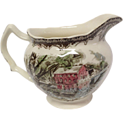 "Johnson Bros. Vintage Friendly Village ""The Old Mill"" Creamer"