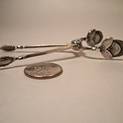 George Jensen CACTUS Sterling Sugar Tongs