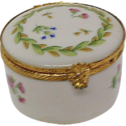 Castel Limoges France Round Trinket Box