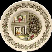 "Johnson Brothers Merry Christmas 10 5/8"" Dinner Plate"