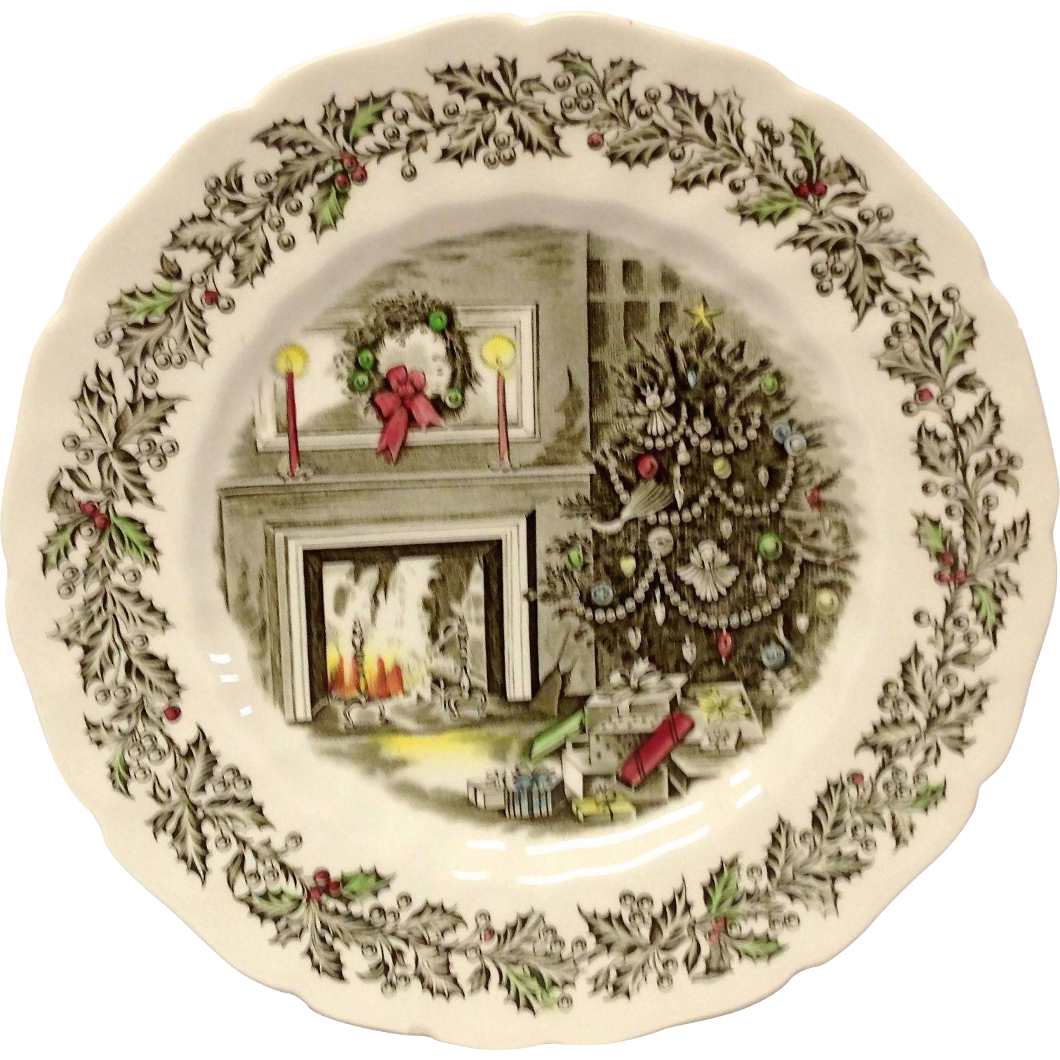 Johnson Brothers Merry Christmas 10 5/8  Dinner Plate  Grandview Fine Tableware | Ruby Lane  sc 1 st  Ruby Lane & Johnson Brothers Merry Christmas 10 5/8