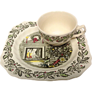Johnson Brothers Merry Christmas Two Piece Snack Set