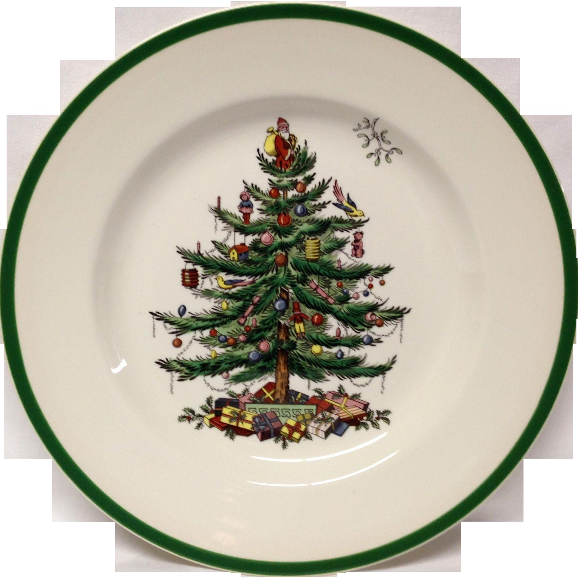 Spode Christmas Tree Dinner Plate, England