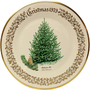 Lenox Christmas Tree Balasm Fir Commemorative Plate 1979