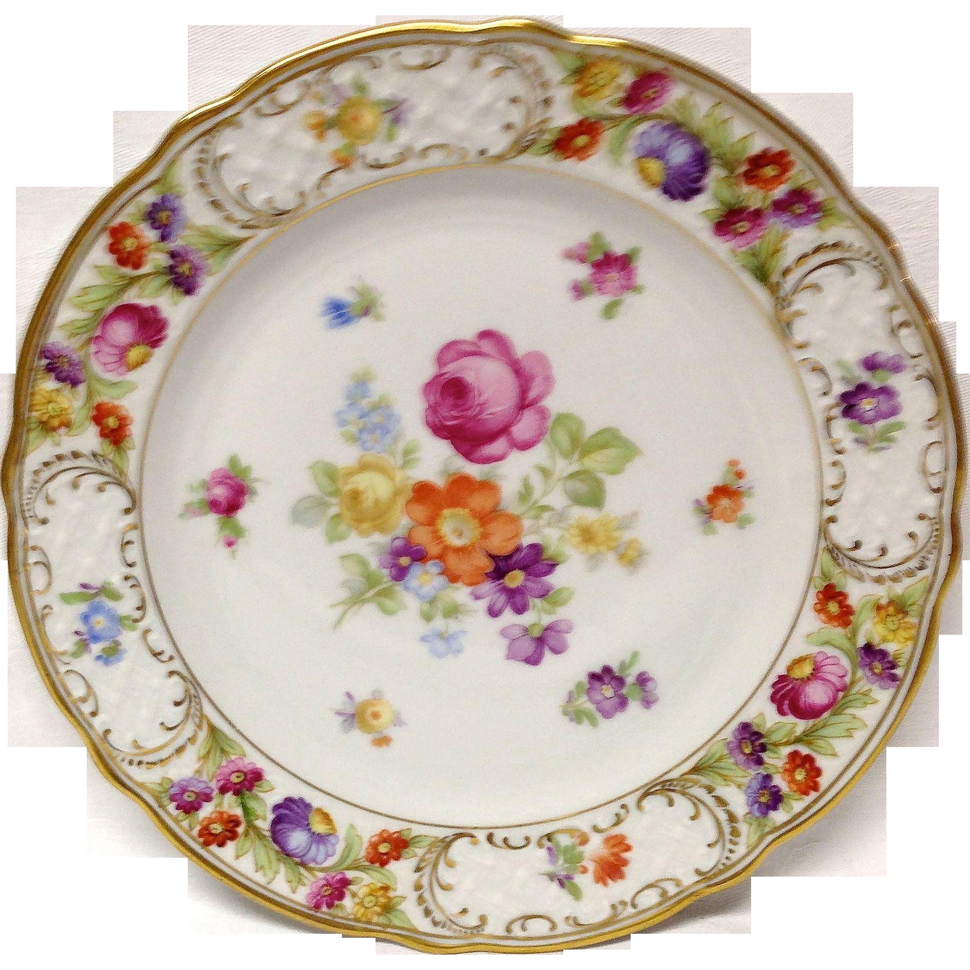 Schumann Empress Dresden Flowers Salad Plate Grandview