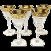 Set (5) Tiffin Minton Crystal Cordials