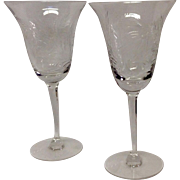 Set (3) Tiffin Crystal Mystic Water Goblets