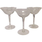 Set (3) Tiffin Mystic Tall Sherbets/Champagnes
