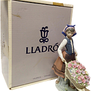 "Boxed  Lladro ""A Barrel of Blossoms"" #1419"
