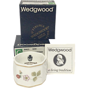 Boxed Pair Wedgwood Wild Strawberry Napkin Rings